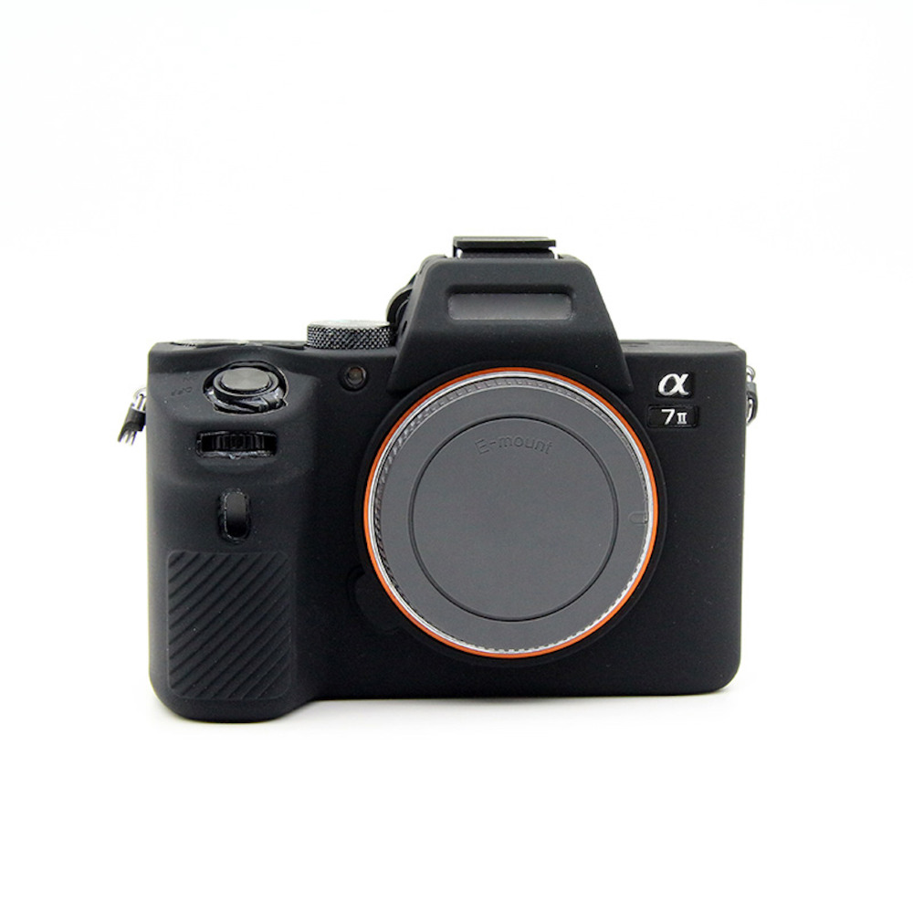 New Soft Silicone Camera case black for Sony A7 II A7II A7R Mark 2 Rubber Protective Body Cover Case Skin free shipping