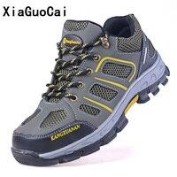 Man buty odporne na Przebicie Ze Stali toe cap Anti smashing Gumowa Podeszwa obuwie ochronne obuwie Robocze Wytrzymałe na Placu Budowy YC229