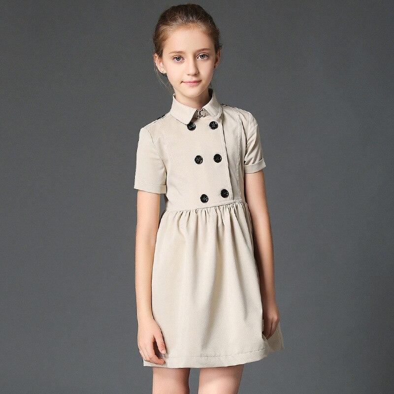 ФОТО maomaoleyenda 2017 Summer Fashion Teenage Girls Dress Girls Fall Casual Dress Child Kids Party Clothing Double Breasted Vestido