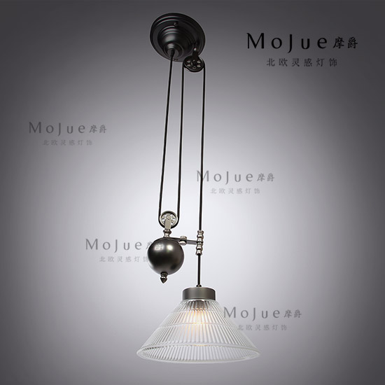 Rh loft vintage american pulley glass pulley single pendant shengjiang pendant light loft rh vintage pendant lights glass
