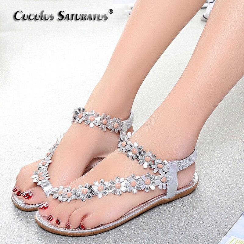 176242211ce2a2 Cuculus 2018 Women Sandals Summer Style Bling Bowtie Fashion Peep Toe Jelly  Shoes Sandal Flat Shoes Woman 3 Colors 01F669
