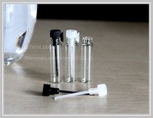 Free Shipping 50 pcs 1 ml Small Glass Perfume Bottle, 1 CC Mini Tester Glass Perfume Vials,2ml,1.5ml 3ml Is Available