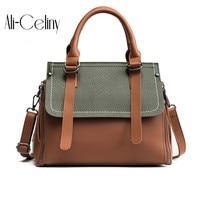 Leather Belt Design Tote Bag Women Handbags Famous Brands Louis Handbag 2017 Fashion Panelled Shoulder Bags