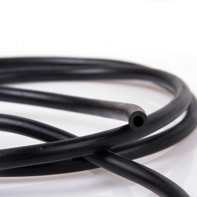 3 X 6mm / 4 X 7mm Black Epdm Rubber Auto Wipers Water Pipe Water Spray Nozzle Connecting Tube Rubber Hose For Car