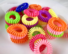 Candy -colored Telephone Cord Elastic Ponytail Holders/ Hair Accessories / hair rope spiral accessories