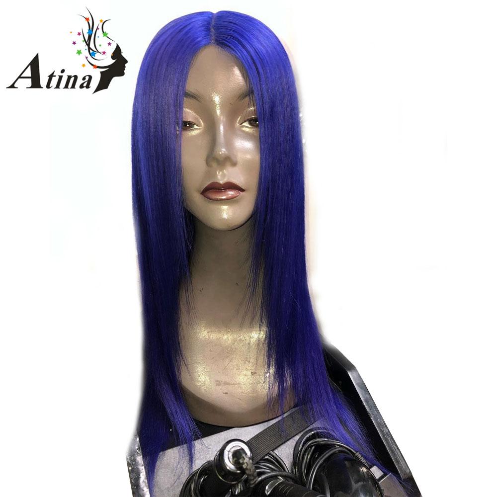 Blue Lace Front Wig Color Wig Ombre 13x6 Deep Part Lace