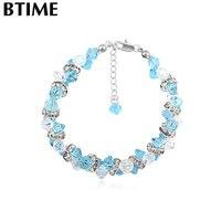 Luxury Jewelry Made With Swarovski Elements Crystal Bracelets Bangles Women Alice Wonder Design Pulseras Silver Mujer