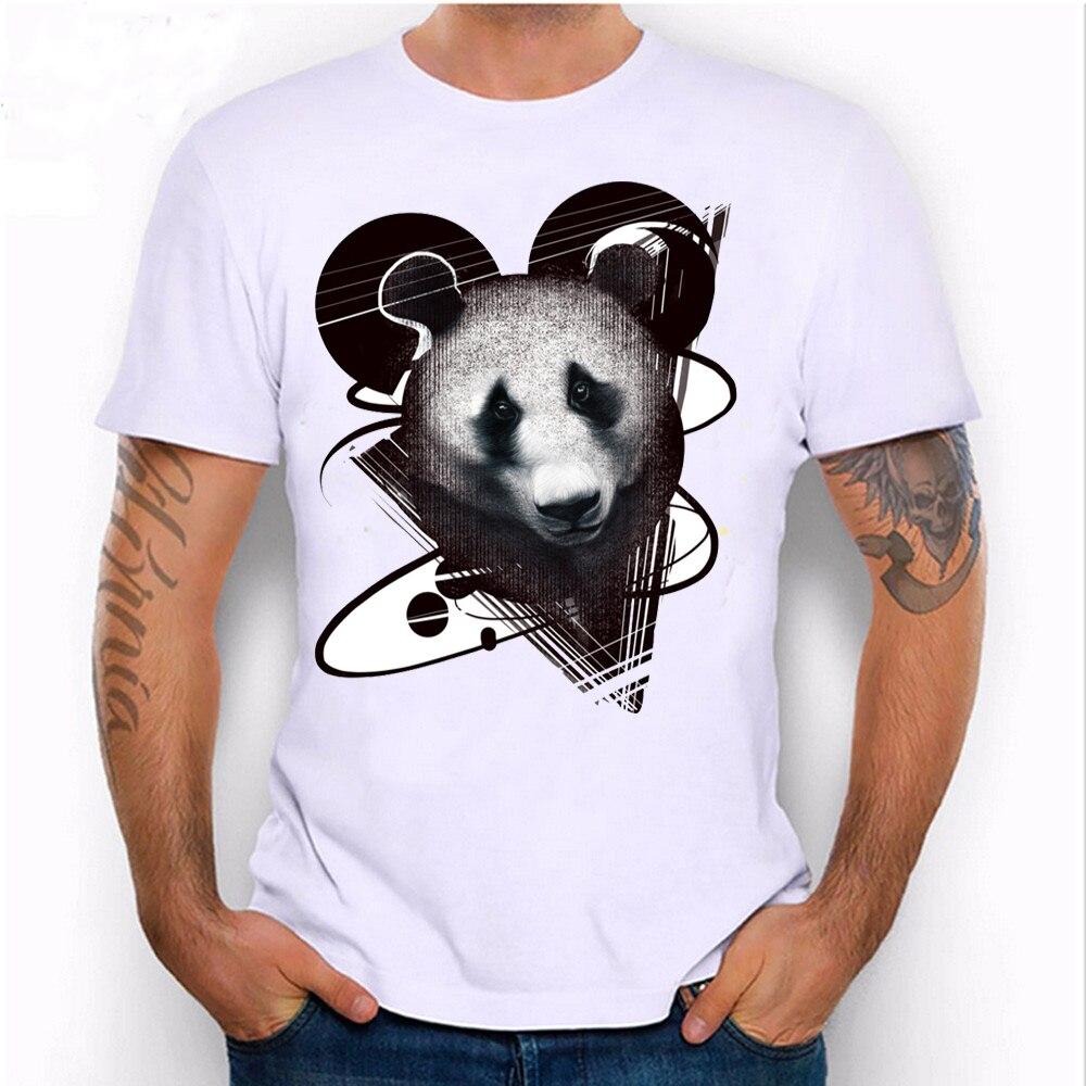 Tops & Tees 2019 Summer Men T Shirts Newest Fashion Panda Peace Design T-shirt Short Sleeve Tops Cool Male Tee