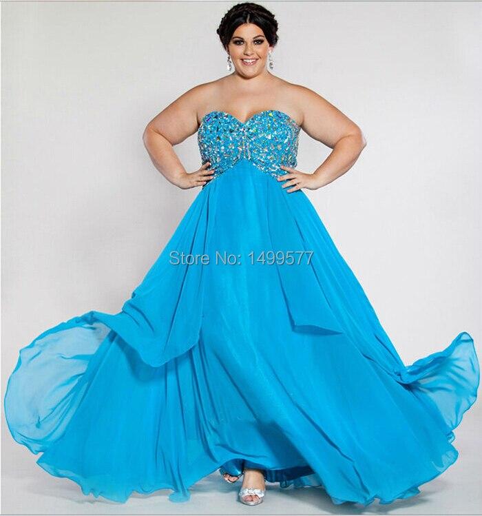 2015 New Arrival Long Evening Dress For Big Women -9284