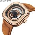 2016 marca de luxo gimto relógios esportes dos homens de moda relógio de quartzo homens assistir novo design de couro relogio masculino reloj hombre