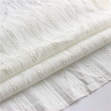 White Cloth Cotton Jacquard Fabric Pastoral Small Fresh   Shirt Skirt Fabric Wear