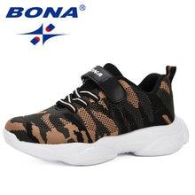 Детская спортивная обувь bona Модные Повседневные Дышащие сетчатые