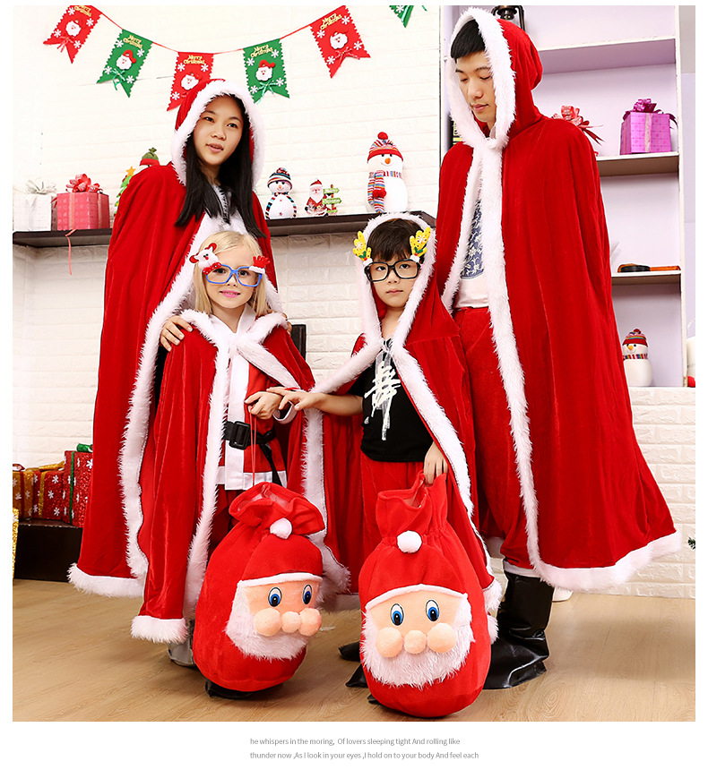 0275e3e9334a2 Christmas Family Clothes Baby Children Mother and Father Cloak Gifts ...