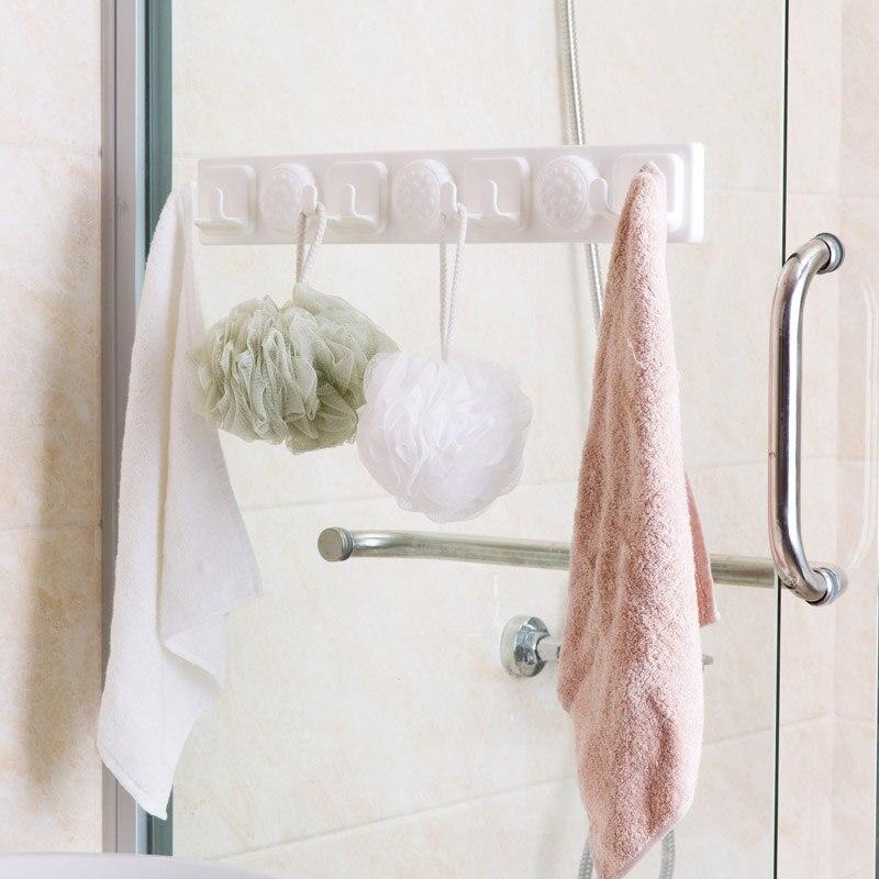 Powerful sucker mop hooks bathroom free punching mop towel bathroom ...