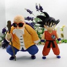 2 pcs/ensemble Dragon Ball Z Son Goku Goku Maître Roshi Kame Sennin PVC Action Figure Collection Modèle Jouets