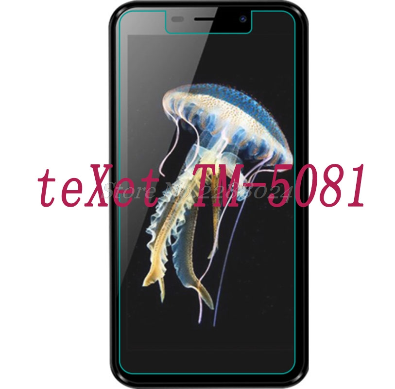 Smartphone 9H Tempered Glass for teXet TM-5081 GLASS  Explosion-proof Protective Film Screen Protector cover phone