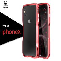 Luphie Metal Bumper For Iphone X Case Luxury Ultra Thin Aluminum Frame Shockproof Phone Cases For