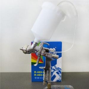Image 2 - Prona R 403 IP אוויר תרסיס אקדח, הכבידה להאכיל עם פלסטיק כוס, לחץ אוויר כדי כוס הגבוה vicosity ציור materialm, R403 IP