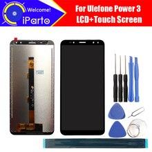 ЖК дисплей 6,0 дюйма Ulefone Power 3 + кодирующий преобразователь сенсорного экрана в сборе, 100% Оригинальный Новый ЖК дисплей + сенсорный дигитайзер для Power 3 + Инструменты