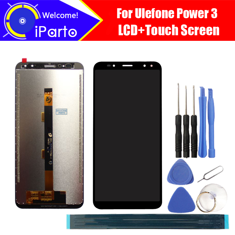 6.0 inch Ulefone Power 3 LCD Display+Touch Screen Digitizer Assembly 100% Original New LCD+Touch Digitizer for Power 3+Tools