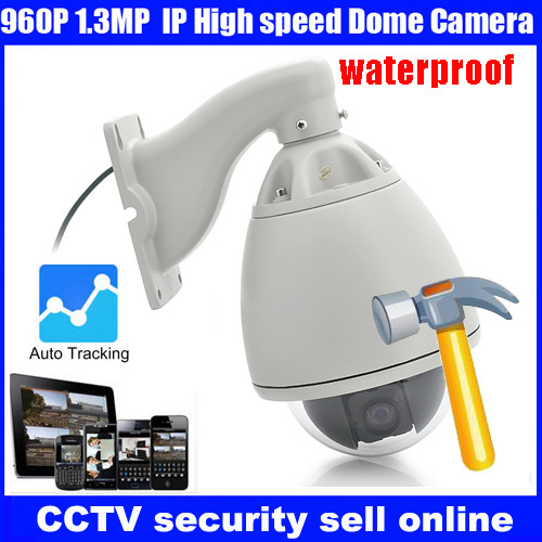 Freeship 2016 20X Optical Zoom High Speed Dome Full HD960P Auto Tracking high speed PTZ IP dome Camera CCTV outdoor camera