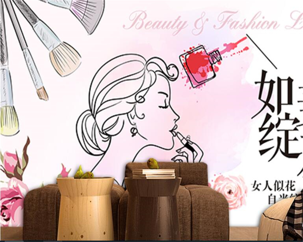 Must see Cartoon Makeup Wallpaper - beibehang-wall-paper-Personality-silk-cloth-wallpaper-such-as-the-United-States-blooming-makeup-beauty-background  HD_944647.jpg