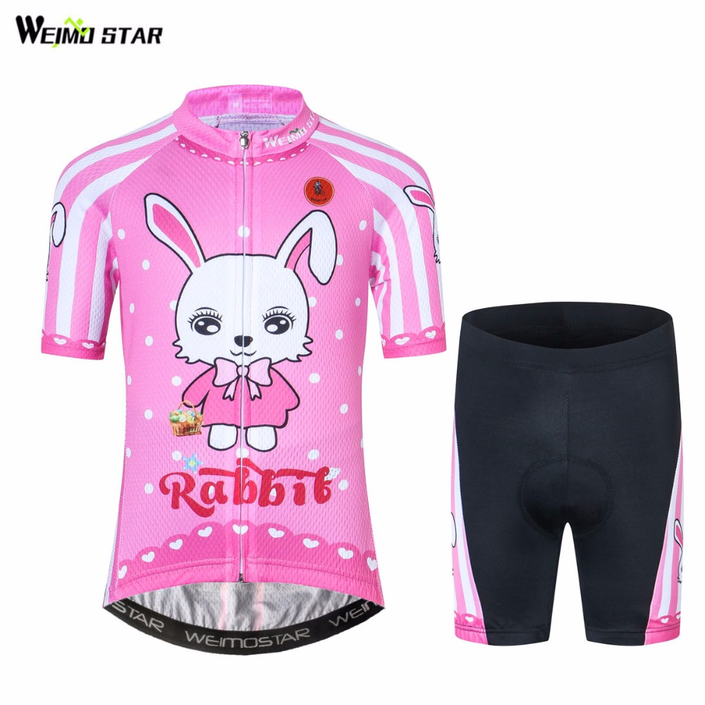 WEIMOSTAR Bike Jersey Bicycle-Clothing Pink Ropa-Ciclismo Children Mtb Summer Outdoor