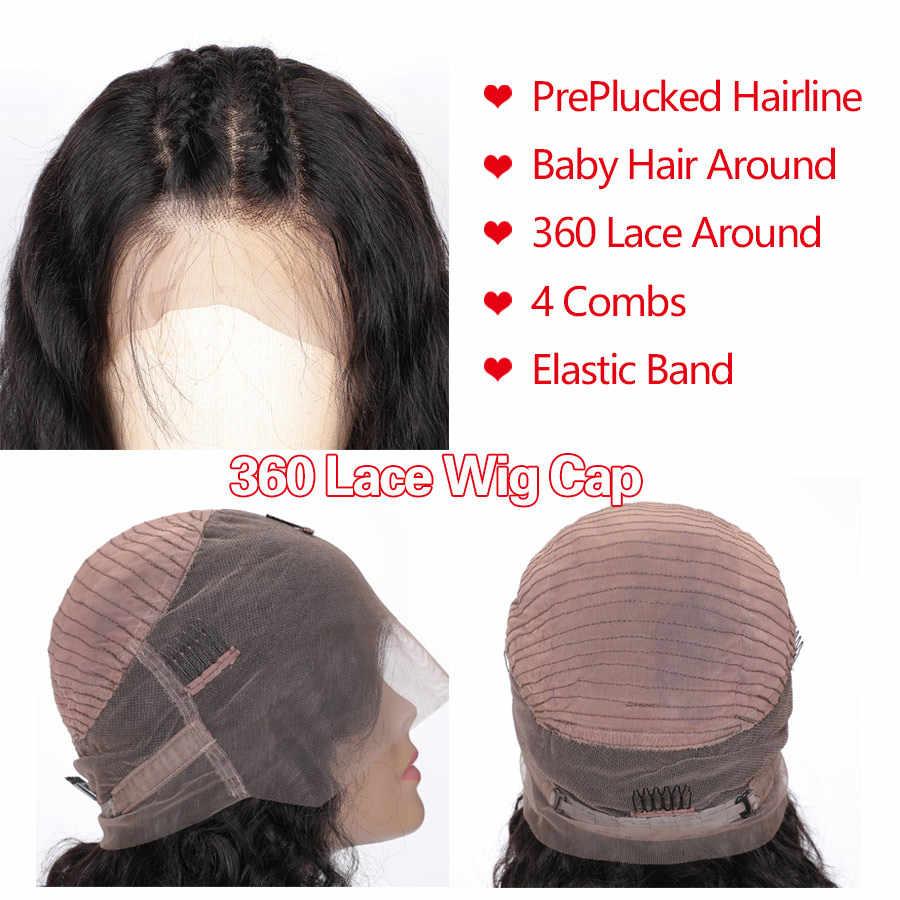 RXY 360 peruki typu Lace Front wstępnie oskubane z dzieckiem włosy brazylijski peruka z falowanymi włosami 250 gęstość koronki peruka M Remy ludzki włos koronki przodu peruki z ludzkich włosów