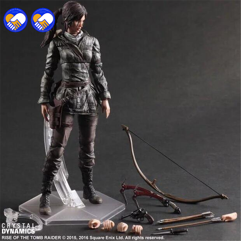A toy A dream The Tomb Raider Action Figure Lara Croft Play Arts Kai Toys PVC 270mm Anime Movie Toys Rise of The Tomb Raider weir a the martian a novel