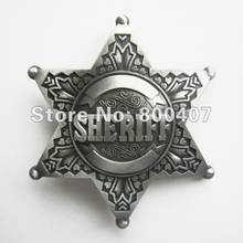 Distribute Wholesale Retail Belt Buckle (Original Vintage Pewter Sheriff Star) Free Shipping(China)