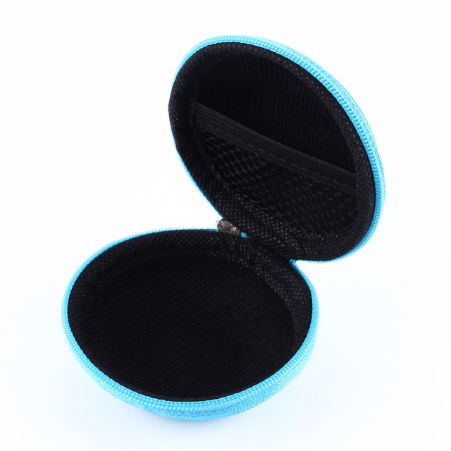 Mini Zipper Hard Headphone Case
