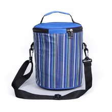 New round Thermal lunch bag portable Oxford picnic bag Multifunction Large Capacity Storage Food insulation lunch Tote C