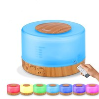 500ml Remote Control Ultrasonic Aroma Air Humidifier 7 Colors LED Light Electronic Aromatherapy Essential Oil Diffuser
