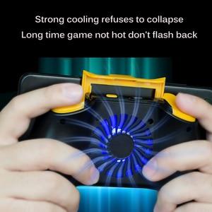 Image 2 - Powstro טלפון Gamepad מחזיק עם קירור מאוורר נייד טלפון בקר ג ויסטיק כוח להקת Gamepad עבור Pubg טלפון בעל