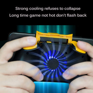 Image 2 - Powstro Phone Gamepad Holder With Cooling Fan Mobile Phone Controller Joystick Power Band Gamepad For Pubg Phone Holder
