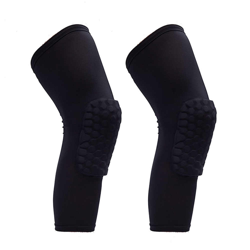 新 2 個ニーパッドハニカム膝パッド脚スリーブ保護パッドアウトドアスポーツサポートガード VN 68