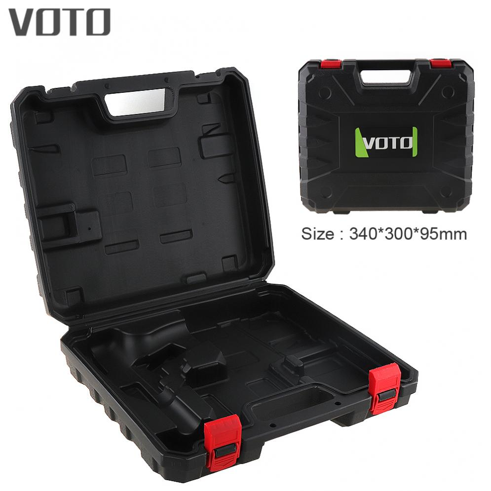 VOTO Power Tool Suitcase Electric Drill Dedicated Plastic Tool Box with 340mm Length and 300mm Width for Electric Wrench new 50mm concrete cement wall hole saw set with drill bit 200mm rod wrench for power tool