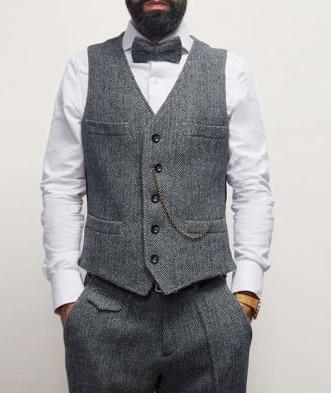 Slim noir Rétro Motif As ardoisé Robe Costume Fit Mariage Color Chevrons Gilet De Picture Dernières custom 3 À Hommes veste Pièce Pantalon Tweed twHzqnS7S