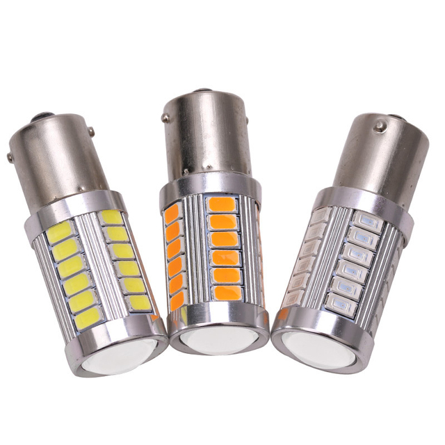 1pcs 1156 P21W BA15S 33 SMD 5630 5730 LED Car Backup Reserve Light Motor Brake Bulb Daytime Running Light White Red Orange Amber