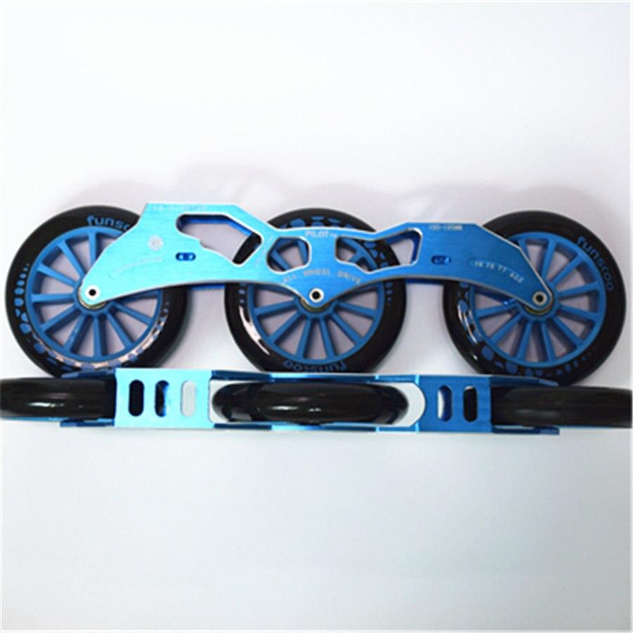 Polit 3*125mm Vitesse Skate Cadres Avec QIL-11 Roulements Avec 125mm Roues Ensemble 3 Couleurs Concurrence Rue Racing Patines Base Ensemble