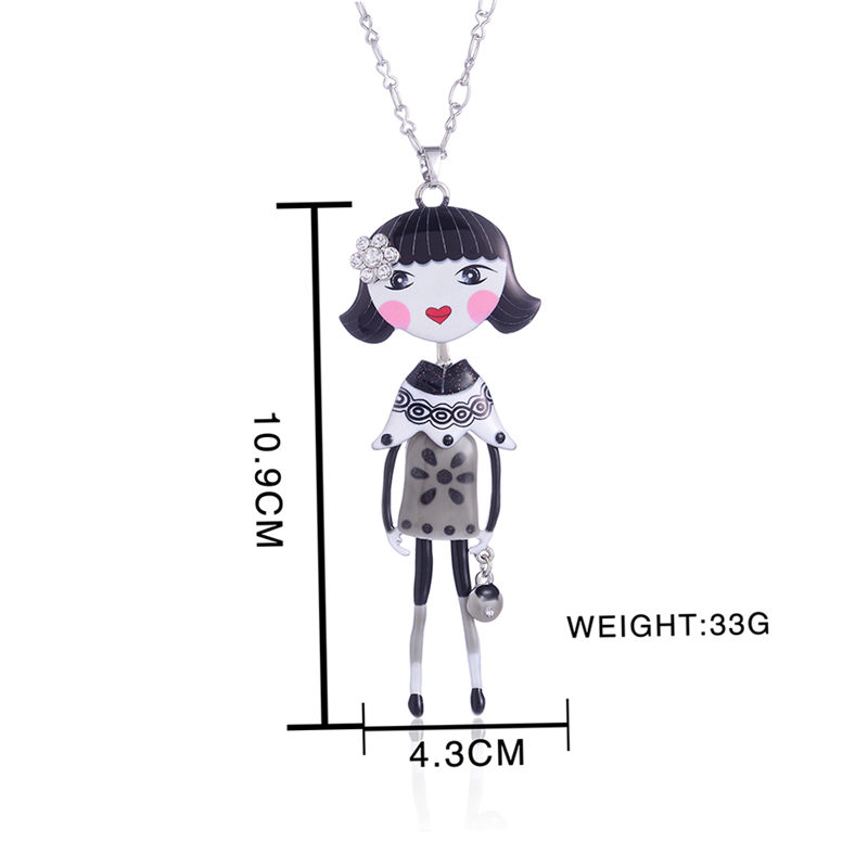 Cring Coco Necklaces amp Pendants Enamel Chain Necklaces for Gift Women 39 s Clothing amp Accessories Pendant Necklace Girls Jewelry in Chain Necklaces from Jewelry amp Accessories