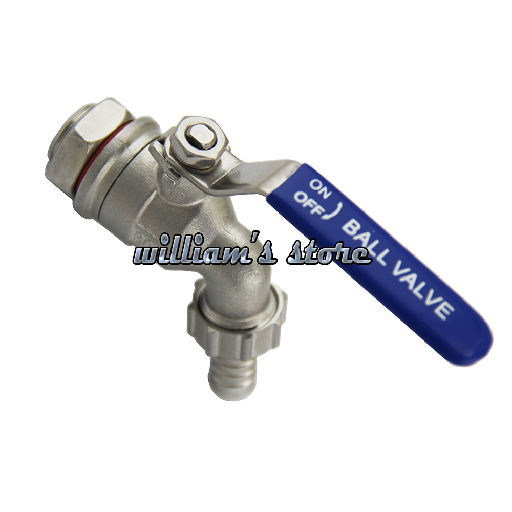 1/2 Homebrew Hose Tape Ball Valve Working Pressure 200PSI Homebrew Faucet Tap With Install Screw And Silicon 304 Stainless Steel