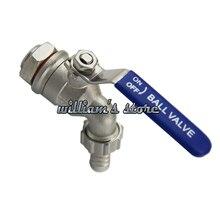 1/2 homebrew mangueira fita válvula de esfera pressão trabalho 200psi homebrew torneira com instalar parafuso e silício 304 aço inoxidável