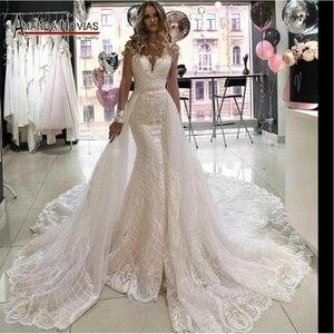 Image 1 - Robe de mariée sirène avec traîne avec jupe amovible