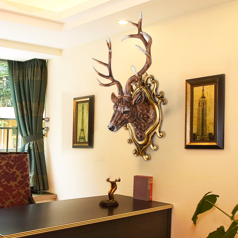 ④deer living room wall decoration wall hanging pendant hanging bar ...