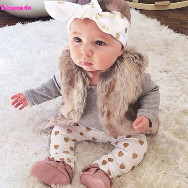 3pcs Spring Autumn Baby Girl Clothing Set Long Sleeve Solid Bodysuit+Love Print Long Pants+Headband Infant Kids Outfits Set 2017 new style spring autumn hoodie baby girl clothing set sequin lace long sleeve velour sports jacket long trousers outfits