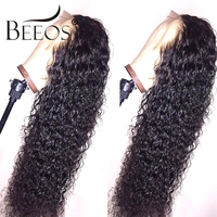 Pre Plucked 13x6 Deep Part Lace Front Curly Human Hair Wigs Black Bleached Knots Peruvian Fake Scalp Remy Hair Wigs for Women