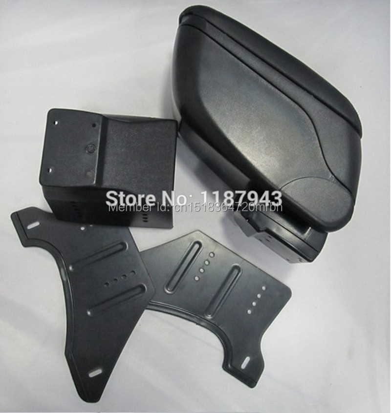 Big Black Storage Armrest Console Box With Leatherette Padding Center Console Universal Fit for mini cooper 56 in Armrests from Automobiles Motorcycles