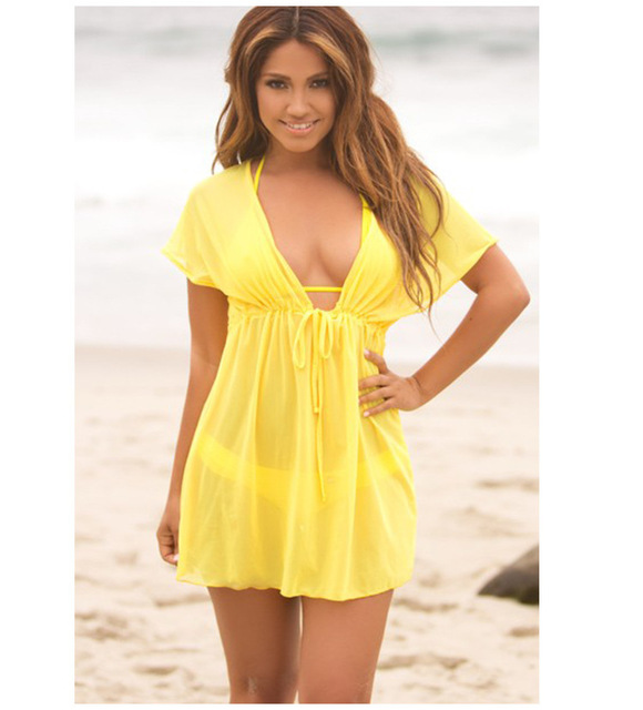 a3744eef4b Hot sale summer style women Cover Ups sexy deep V-neck swimsuit cover up  bikini