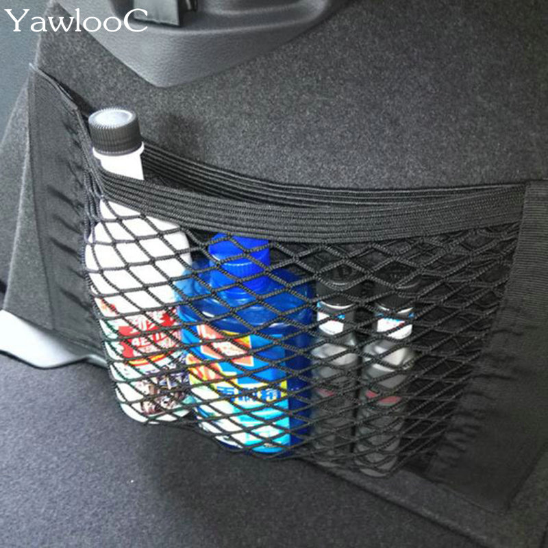 1 PC/LOT Car Back Rear Trunk Seat Elastic String Net Mesh Storage Bag Pocket Cage Car Styling Car Sticker